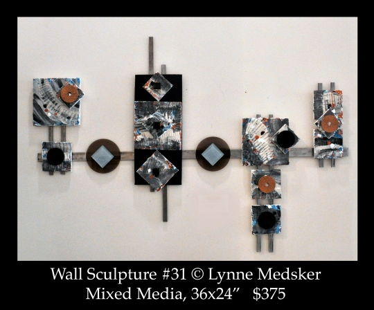 mixed media wall sculpture  © lynne medsker
